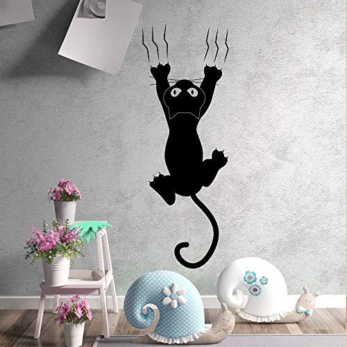 Faule Katze Wandaufkleber Kreative vinyl Aufkleber hause raumdekoration wandbilder Wandtattoos Kunst wandaufkleber kat tapeten amimals 29X80CM