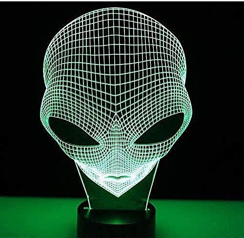 Hay extraterrestres en las cabezas de otros planetas. Increíbles efectos visuales. Iluminación para niños. Luz nocturna 3D. Luz para dormir. Luz de noche.