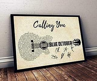 AprilLove Calling You, Lyrics Poster, Blue October, Without Frame, Music Art Poster, Wall Art Decor, Calling You Lyrics, Gift for Friend, Home Decor