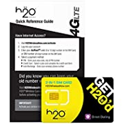 H2O SIM Card for H2O Wireless - Retail Packaging