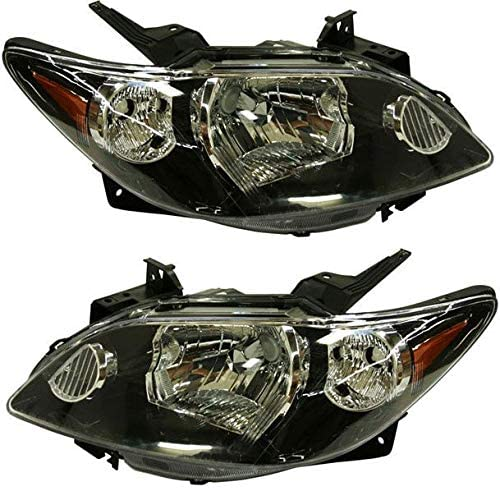 Evan-Fischer Headlight Set Compatible with 2004-2006 Mazda All items in Under blast sales the store L MPV