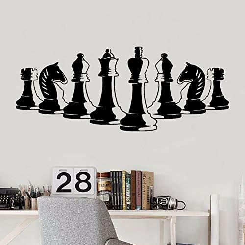 SUPWALS Wandtattoos Schachfiguren Wandtattoo Strategiespiel Innenarchitektur Kunst Tapete Schlafzimmer Arbeitszimmer Wohnkultur Tür Fenster Vinyl Aufkleber 57X141 Cm