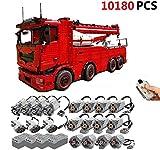 PEXL Technic Tow Truck MK II Set de Construcción, 2.4G RC 8X8 Camion Grúa con Control Remoto y 19 Motores, 10180 Piezas Bloques Compatible con Lego Technic