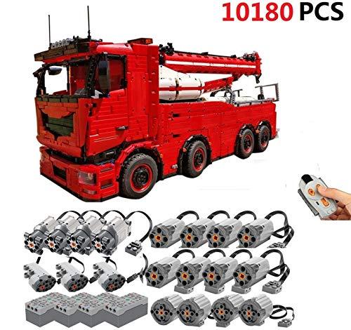 TETAKE Technik Abschleppwagen Bausatz mit 18 Motoren, 10180 Teile Ferngesteuert 8x8 Abschlepptruck Bausteine Modellbausatz, Klemmbausteine Konstruktionsspielzeug Kompatibel mit Anderen Marken
