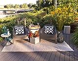 Fab Hab Lancut - Grau Teppich aus recyceltem PET (Polyestergarn) für den Innen-/Außenbereich (60 x 90cm)