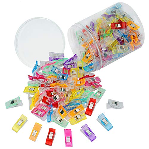120 PCS Multipurpose Sewing Clips, Wonder Mini Clamps Clips for Sewing, Multi-Color Crafting Tools for Fabric Sewing Binding Crafting