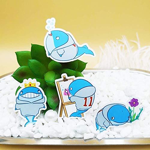 JUNZE Cute Whale Story Handbook Album Sticker DIY Material 40pcs