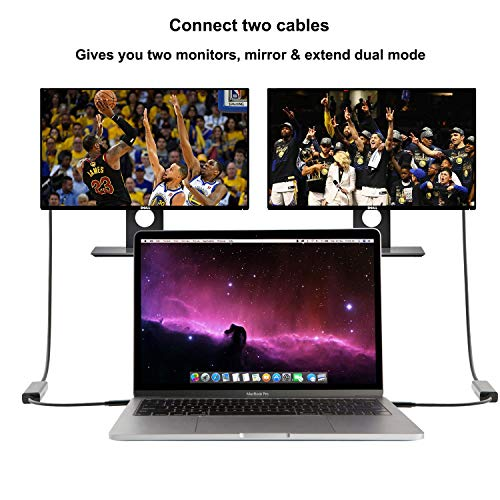 CableCreation USB C DVI Kabel, USB-C auf DVI Adapter für Neue MacBook Pro/Surface Book 2/Chromebook Pixel/Dell XPS/Yoga 920/910/Asus VG278HE/Zen AIO/Galaxy S10+/S9/S8, 1080P @60Hz, 1.83M/6FT, Schwarz