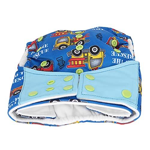 Pañal infantil, pañal lavable, impermeable, patrón de dibujos animados a prueba de fugas para el hogar, para el bebé(Coche)