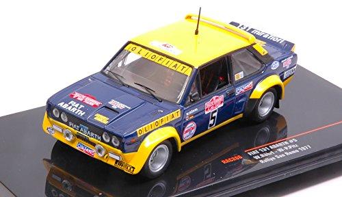 FIAT 131 ABARTH N.5 OLIO FIAT ACCIDENT SANREMO W.ROHRL-W.PITZ 1:43 - Ixo Model - Auto Rally - Die Cast - Modellino