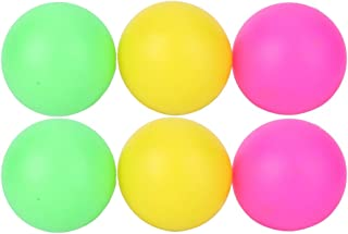 Beer Ping Pong Balls, 6Pcs/Set PVC Colorful Environmental Protection Beach Toy Ball, Lightweight Easy to Fade Colored Ping...