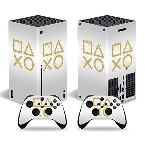 ZXJ Für Xbox-One Controller Sticker, Süße Stil Schmetterlingshaut Aufkleber Aufkleber Abdeckung für Xbox Series X Console und 2 Controller Vinyl,Weiß