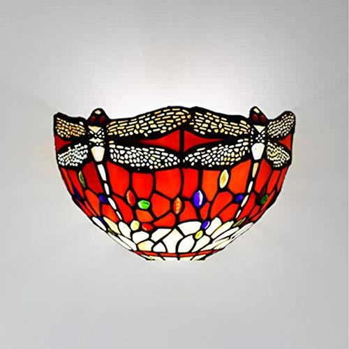 Antiker Tiffany-Lampenschirm, Libellen-Design, handgefertigt