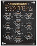 Cappuccino Espresso Latte Coffee Visual Definitions - 11x14 Unframed Typography Art Print - Great Coffee Shop Decor