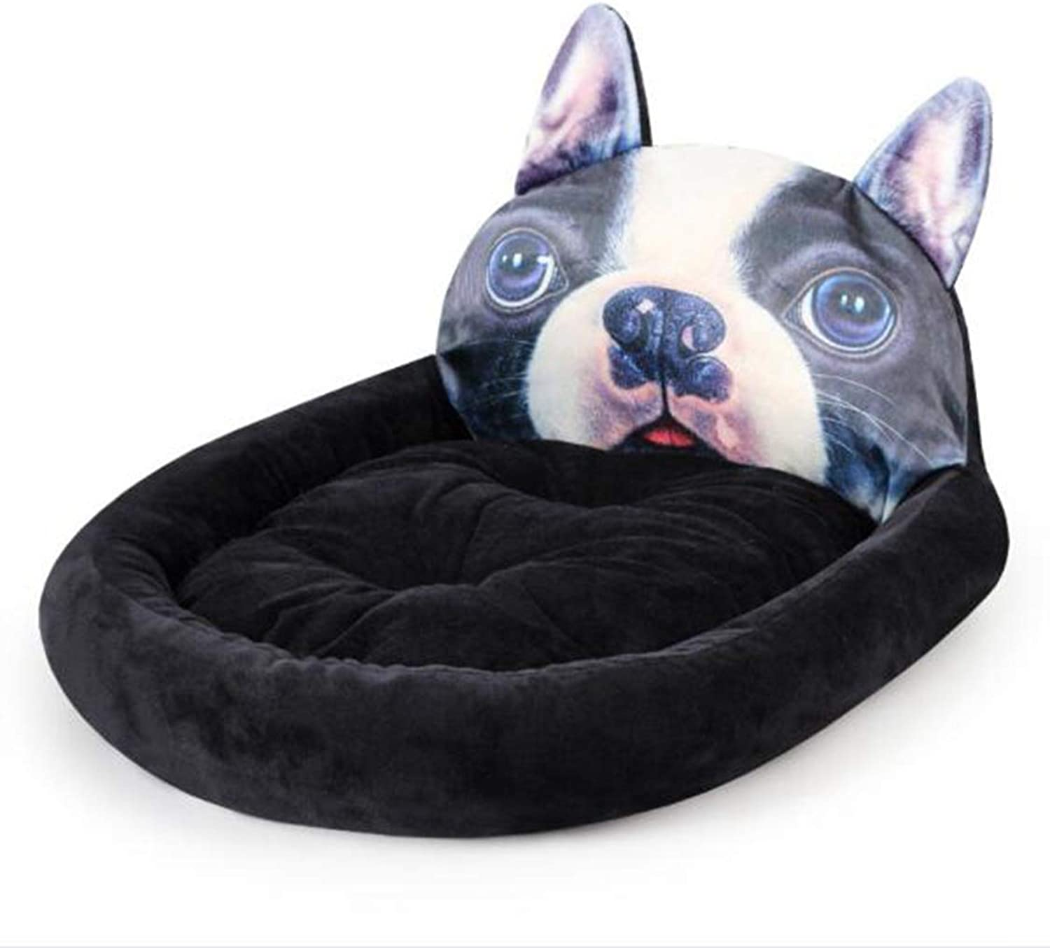 CJN Pet Bed,Cat And Dog Bed,Soft Washable Bed,Warm,3D Cartoon Shape, PP Cotton,Large (55  50  15Cm) Small (45  38  12Cm)