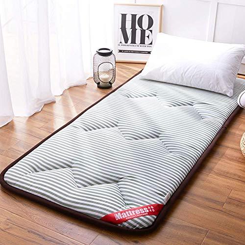 JY&WIN Japanese Floor Futon Mattress,Soft Touch Warm Sleeping Tatami Foldable Guest Mattress Quilted Tatami Mattress Anti-slip Thick 2inch- King