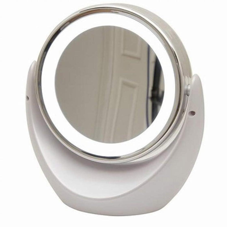 六チェリー特徴づける[キカー] [KIKAR] [LEDライト照明両面化粧鏡 アイメイク 毛穴ケア 拡大鏡] 【1倍/5倍】