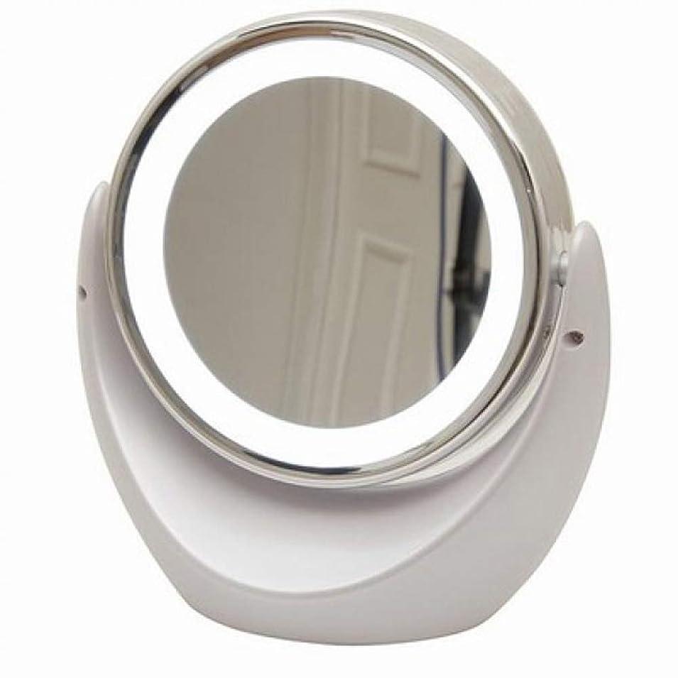 耐える不潔逆[キカー] [KIKAR] [LEDライト照明両面化粧鏡 アイメイク 毛穴ケア 拡大鏡] 【1倍/5倍】