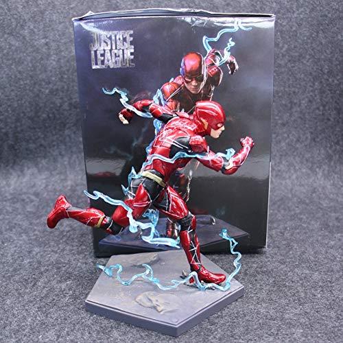 SHOP YJX Justice League Il Flash Action Figure Esecuzione Statua Action Figure Giocattoli Modello 18 Centimetri (Color : with Retail Box)