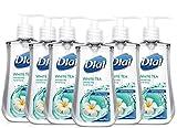 Dial Liquid Soap Anti-Bacterial White Tea 7.5 Ounce Pump (221ml) (Pack of 6)