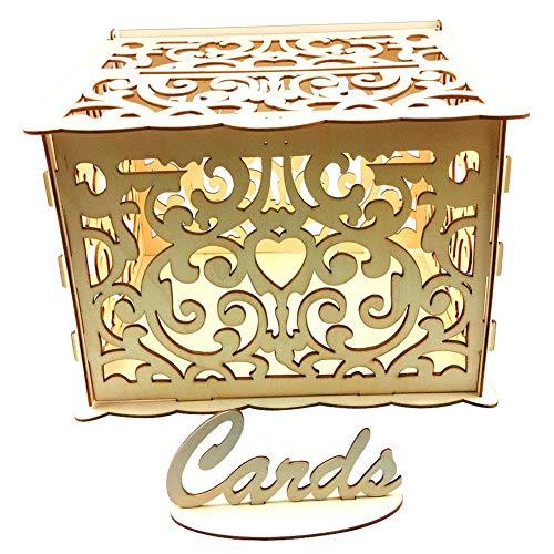 Ahomi houten doe-het-zelf bruiloft kaarten doos uitnodiging brief opslag case partij benodigdheden