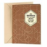 Hallmark Birthday Card for Men (Celebrating You), Polygon Pattern (0499RZB1199)
