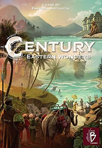 Century Eastern Wonders | Strategy Board Game | Exploration Game | Family Board Game for Adults and Kids | Ages 8 and up | 2 to 4 Players | Average Playtime 30-45 Minutes | Made by Plan B Games