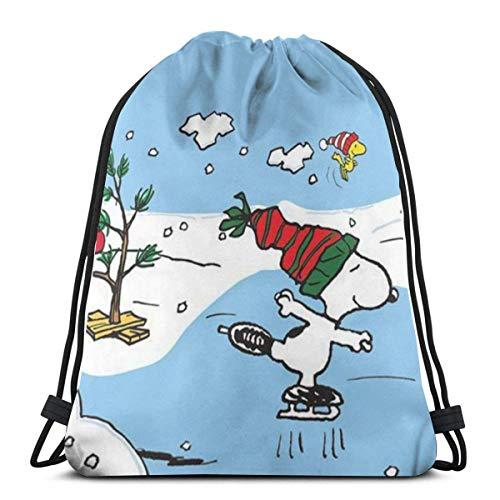 Bolso clásico con cordón para esquí, gimnasio, mochila de hombro, bolsa de almacenamiento para hombre y mujer