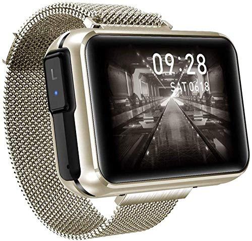 GANG Smart Watch, Pantalla Grande de 1.4 Pulgadas Diy Fondo de Pantalla Bluetooth Música Bluetooth Dos en Uno Tws Bluetooth Auriculares Bluetooth Recordatorio Inteligente Desgaste D