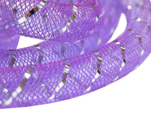 Perlin 3 M LILA Net hilo de plástico con acabado brillante y...