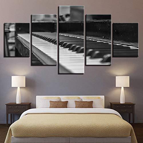 HD canvas kunst schilderij van woonkamer wanddecoratie 5 stuks piano foto grootte 3 zonder frame