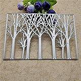 Yuntrip Baum-Metall-Stanzformen für Kartenherstellung, Hintergrund-Stanzformen, Prägeschablone,...