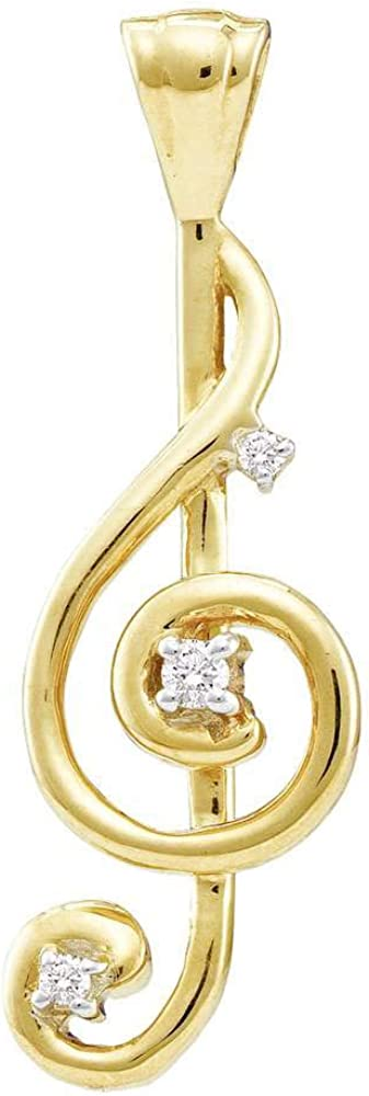 The Diamond Industry No. 1 Deal 10kt New Free Shipping Yellow Womens Round Gold Cl Treble