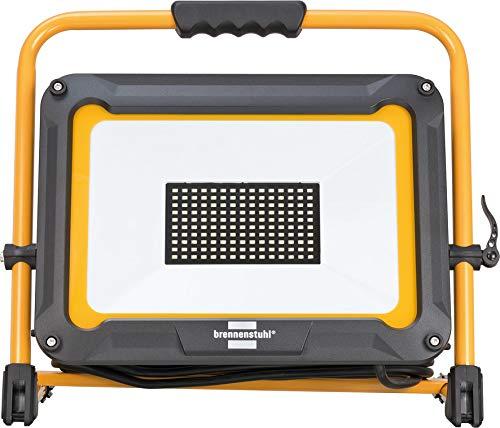 Brennenstuhl Mobiler LED Strahler JARO 9000 M /  LED Baustrahler für außen IP65 (LED Arbeitsleuchte mit 5m Kabel, LED Baustellenstrahler 100W, LED Arbeitsstrahler mit Schnellspannverschluss)