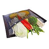 WOTEG BBQ Mesh Grilltaschen, 14 x 24cm Wiederverwendbare Grilltaschen für Holzkohle-, Gas-, Elektrogrills & Smoker - Hitzebeständige, Antihaftbeschichtete Grilltasche