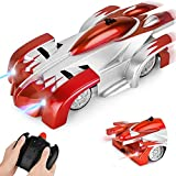Remote Control Car Toys for Kids, Wall Climbing RC Cars with Dual Mode 360°Rotating Stunt Rechargeable High Speed Vehicle with LED Light Gifts for Kids Boys Girls (Red)