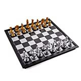 Superior Material & Exquisite Workmanship - This chess board made of HIPS high impact plastic material, with compact texture, anti-beating and anti-falling, not easy to deform performance and so on. Besides, the exquisite chess figures and comfortabl...
