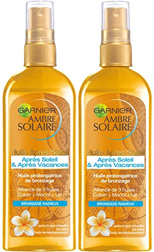 Garnier DelialAmbre solaire–Aceite prolongador de bronceado Aftersun–150ml–pack de 2