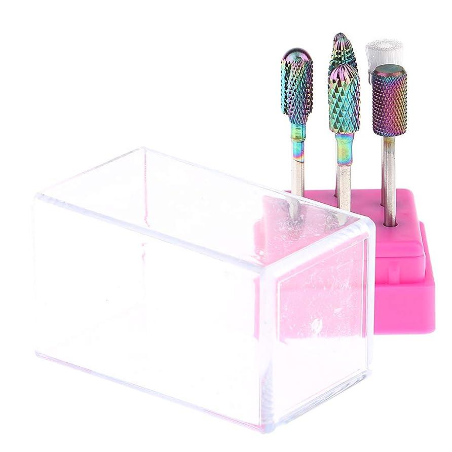 教師の日管理するエクスタシーPerfeclan ネイルドリルビット 研磨ヘッド マニキュアツール ペディキュア用 爪やすり 全2色 - ピンク