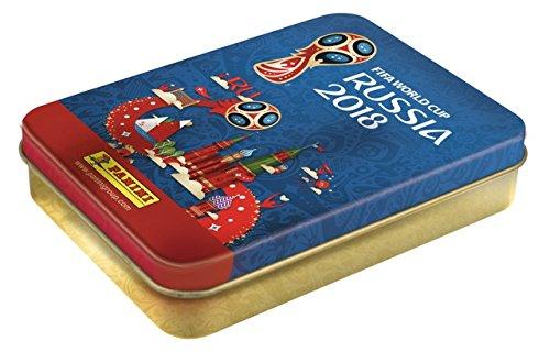 Panini - Mundial Rusia 2018 Caja metálica con 15 sobres [Los números de los cromos de la versión importada pueden no coincidir con el álbum de la versión española]