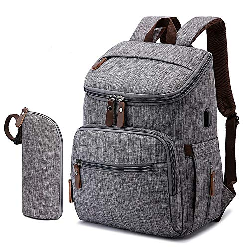 Bolsa Maternidade Mommy Bag Cinza Modelo Landquart Com USB e Espaço para...