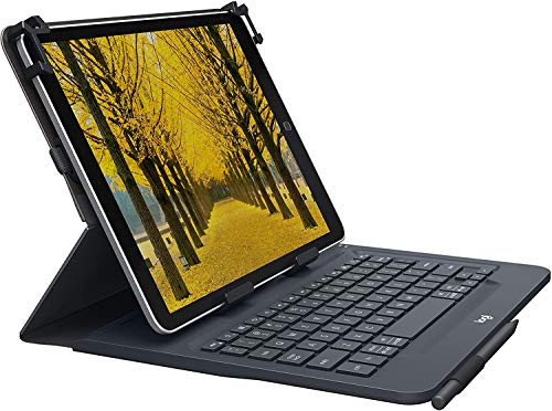 Logitech Universal Folio Cover iPad o Tablet con Tastiera Bluetooth Wireless, Apple, ‎Android, Windows da 9-10 Pollici, Facile Configurazione, Durata Batteria fino a 2 anni, ‎Italiano Qwerty, Nero
