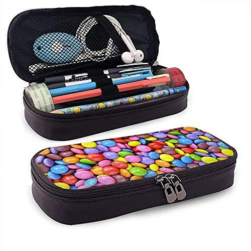 Snoep Snoepjes Voedsel Kleurrijke PU Lederen Potlood Pen Bag Pouch Case Houder High School Coin Purse Cosmetische Tas