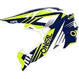 O'NEAL | Casco Motocross | MX | Calotta in ABS, Standard di sicurezza ECE 22.05, Prese d'aria per una ventilazione ottimali | Casco 2SRS Spyde 2.0 | Adulto | Blu Bianco Giallo | Taglia M
