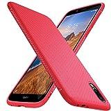 iBetter für Xiaomi Redmi 7A Hülle, Ultra Thin Tasche Cover Silikon Handyhülle Stoßfest Hülle Schutzhülle Shock Absorption Backcover Hüllen passt für Xiaomi Redmi 7A Smartphone (Rot)