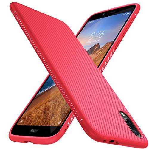 iBetterparaFunda Xiaomi Redmi 7AFunda,FinadeSiliconaFunda,paraXiaomi Redmi 7ASmartphone.Rojo