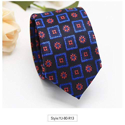 KYDCB Männer Krawatte 6 cm Mode Jacquard Blume Krawatten Gestreiften Plaid Krawatten Corbatas Gravata Herren Hochzeit Business Dünne Krawatte