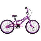 This 20' Kent 2 Cool Girls' BMX Bike, Satin Purple includes single-speed gearing and plastic pedals that will provide her with plenty of power to ride on flat surfaces and small hills.