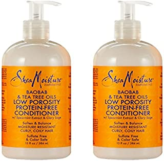 Shea Moisture Baobab & Tea Tree Oils Low Porosity Protein-Free Conditioner, 13 Ounce