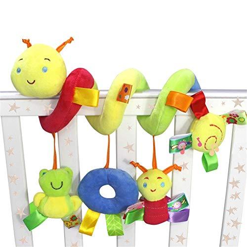 Hangqiao Spirale Poussette Bébé Jouets Mobile Musical Pendaison Pour Berceau Enroulement Jouets Mignons De Peluche Pour Bébé Jeune Enfant (Chenille)